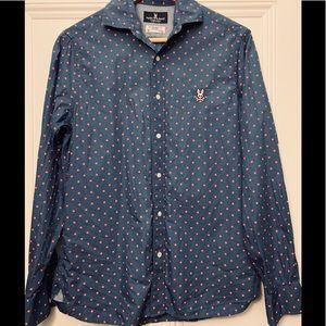 MEN: Psycho Bunny Button down Shirt, size XS